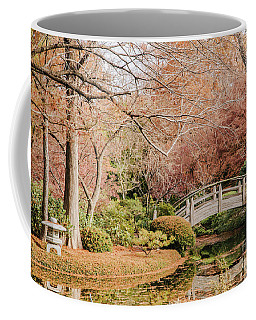 Japnese Garden In Fall Coffee Mug by Iris Greenwell