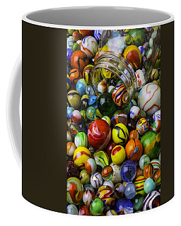 Jar Pouring Out Glass Marbles Coffee Mug