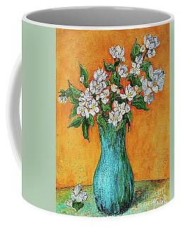 Jasmine Flowers In A Blue Pot Coffee Mug