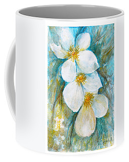 Coffee Mug featuring the painting Jasmine by Jasna Dragun