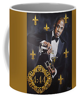 Jay-z 444 Grammy Award Portrait Original Acrylic Painting Coffee Mug