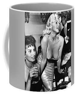 Jayne Mansfield Hollywood Actress And, Italian Actress Sophia Loren 1957 Coffee Mug