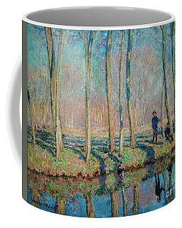 Jean Pierre Hoschede And Michel Monet On The Bank Of The Epte Coffee Mug