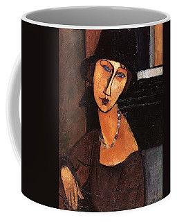 Jeanne Hebuterne With Hat And Necklace Coffee Mug