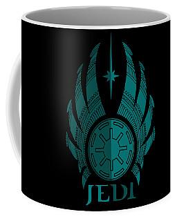 Jedi Symbol - Star Wars Art, Blue Coffee Mug