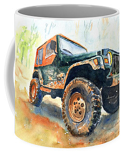 Jeep Wrangler Watercolor Coffee Mug
