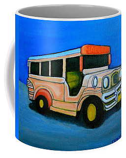 Jeepney Coffee Mug by Lorna Maza