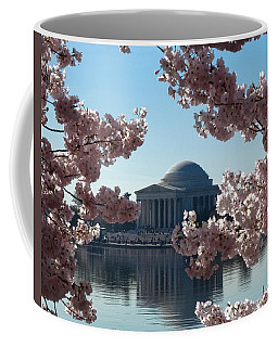 Jefferson Memorial At Cherry Blossom Time On The Tidal Basin Ds008 Coffee Mug