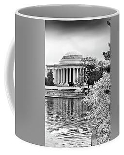 Jefferson Memorial Cherry Blosum Time Coffee Mug by Paul Seymour