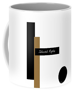 Coffee Mug featuring the mixed media Jehovah Rophe by Jessica Eli