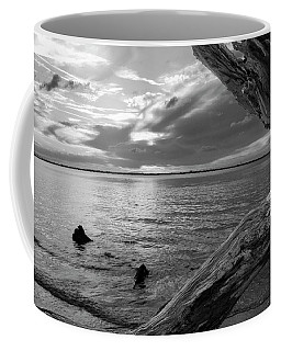 Jekyll Driftwood At Sunset In Black And White Coffee Mug