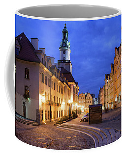 Jelenia Gora Old Town By Night In Poland Coffee Mug