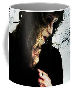 Coffee Mug featuring the digital art Jenn 1 by Mark Baranowski