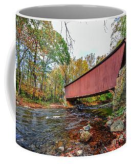 Jericho Covered Bridge In Maryland During Autumn Coffee Mug
