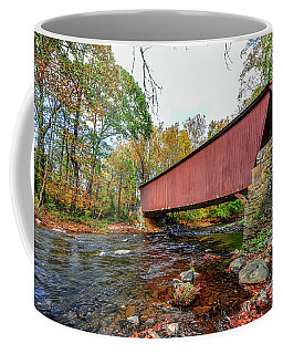 Jericho Covered Bridge In Maryland During Autumn Coffee Mug