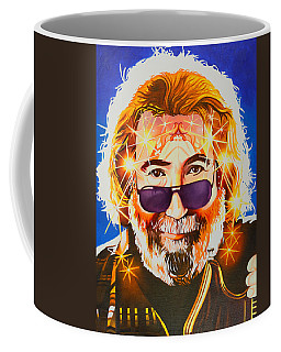Coffee Mug featuring the painting Jerry Garcia-dark Star by Joshua Morton