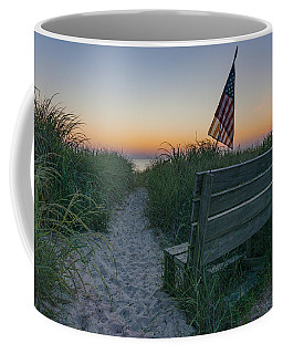 Coffee Mug featuring the photograph Jerry's Bench by Brad Wenskoski