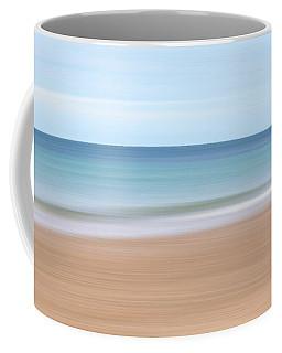 Jersey Coast Seascape Abstract Coffee Mug by Gill Billington
