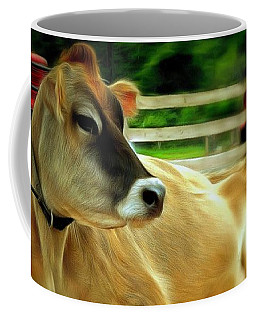 Jersey Cow - Chillaxin' On The Farm Coffee Mug by Janine Riley
