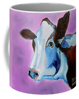 Coffee Mug featuring the painting Jersey by Jenny Lee
