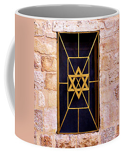 Jerusalem Window On Mt. Zion Israel Coffee Mug