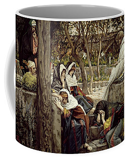 Jesus At Bethany Coffee Mug