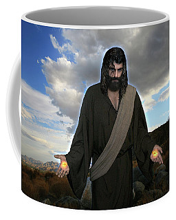 Jesus Christ- And He Withdrew Himself Into The Wilderness And Prayed Coffee Mug