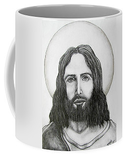 Coffee Mug featuring the drawing Jesus Christ by Michael  TMAD Finney