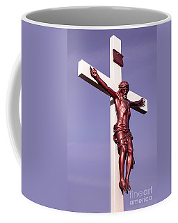 Jesus Crucifix Against The Sky 2 Coffee Mug by Gary Whitton