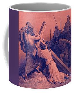 Jesus Falling Beneath The Cross  Biblical Scene Coffee Mug