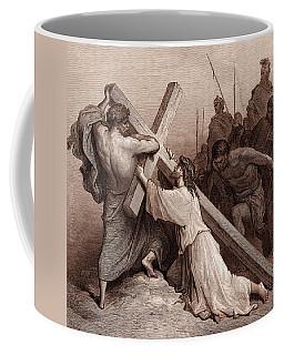 Jesus Falling Beneath The Cross Coffee Mug
