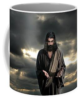 Jesus In The Clouds With Glory Coffee Mug