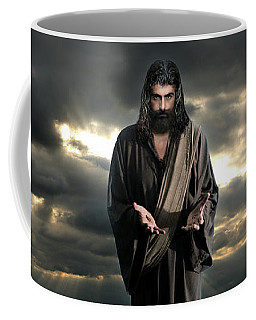 Jesus In The Clouds With Glory Coffee Mug