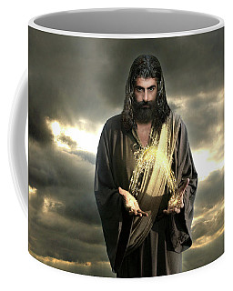Jesus In The Clouds With Radiant Power Coffee Mug