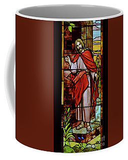 Coffee Mug featuring the photograph Jesus Knocking by Debby Pueschel