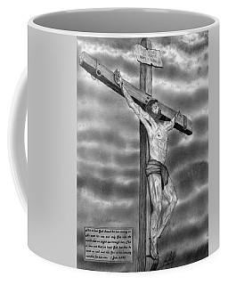 Jesus On The Cross Drawing Coffee Mug