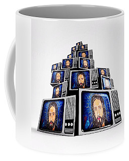 Jesus On Tv Coffee Mug