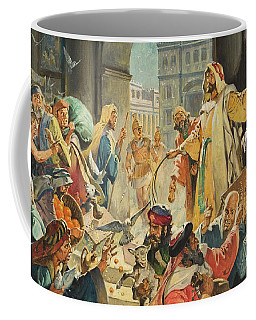 Jesus Removing The Money Lenders From The Temple Coffee Mug