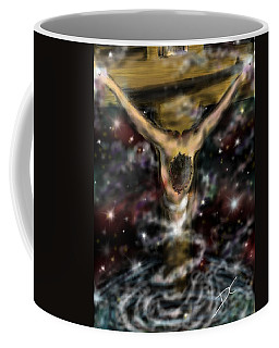 Coffee Mug featuring the digital art Jesus World by Darren Cannell