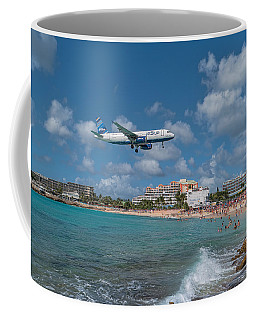 jetBlue at St. Maarten Coffee Mug by David Gleeson
