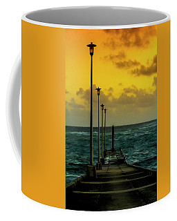 Jetty At Sunrise Coffee Mug