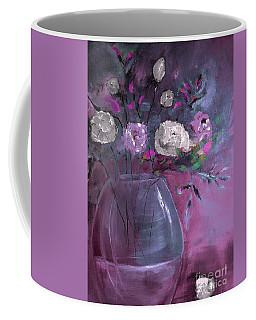 Jewel Tone Rose Arrangement Painting Coffee Mug