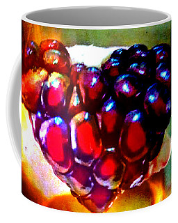 Coffee Mug featuring the painting Jeweled Heart In Light And Dark by Genevieve Esson