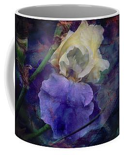 Coffee Mug featuring the photograph Jeweled Iris by Toni Hopper