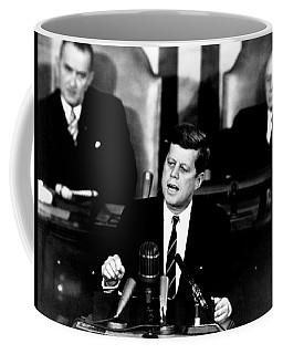 Jfk Announces Moon Landing Mission Coffee Mug