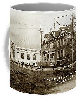 Jim Bardin Hospital The Hospital Was Located On The E Side Of Main Street  Circa 1910 Coffee Mug