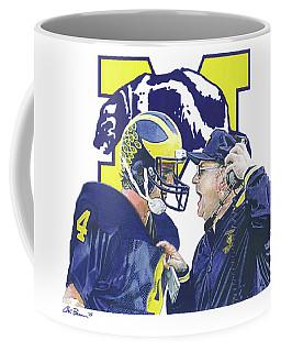 Jim Harbaugh And Bo Schembechler Coffee Mug