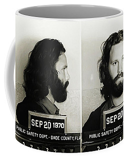 Jim Morrison Mugshot Coffee Mug