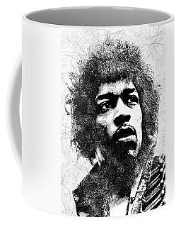 Jimi Hendrix Bw Portrait Coffee Mug