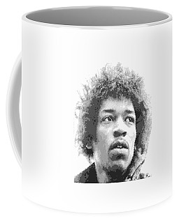 Jimi Hendrix - Cross Hatching Coffee Mug